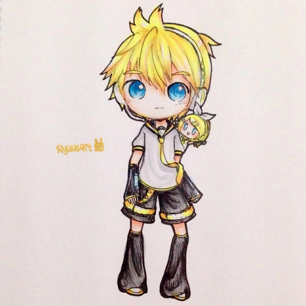 Kagamine Len [Chibi] by usalienpotter