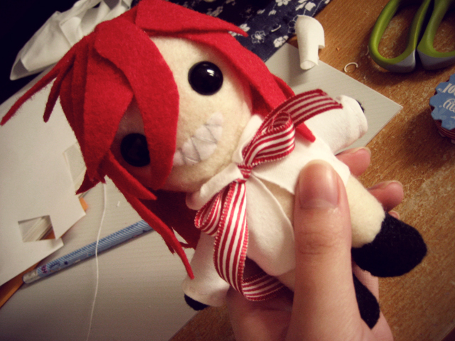 Grell Plush WIP by feiyan