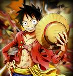 One Piece Monkey D Luffy Smudge