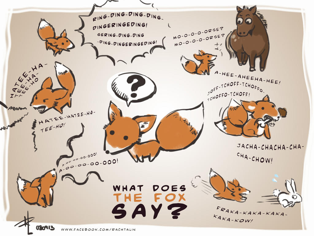 What does the fox say by rachta on deviantart