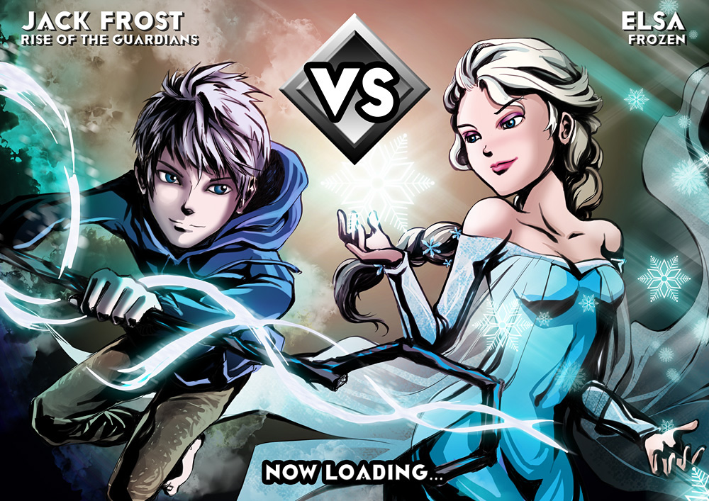 Elsa VS Jack Frost by Rachta