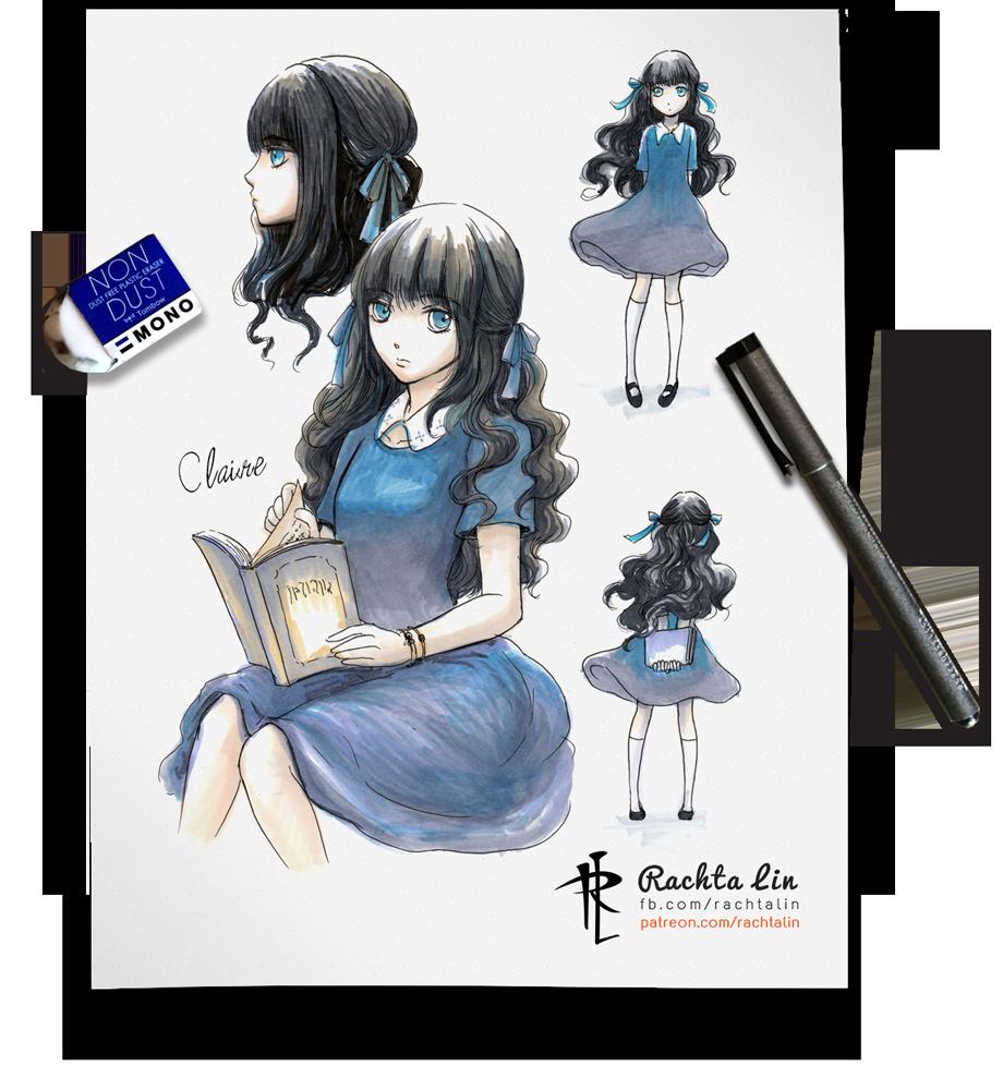 Character Design Visual Novel : Claire my visual novel character by rachta on deviantart