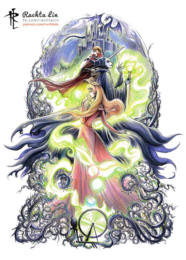 Sleeping Beauty : Aurora, Phillip and Maleficent by Rachta ...