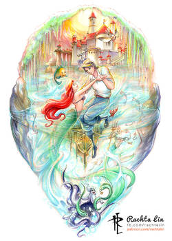 Little Mermaid : Ariel and Prince Eric