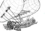 Aztec steampunk zeppelin