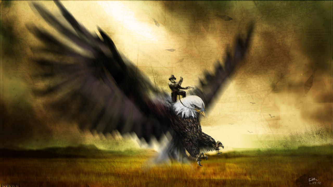 Eagle Rider by Meewtoo on DeviantArt