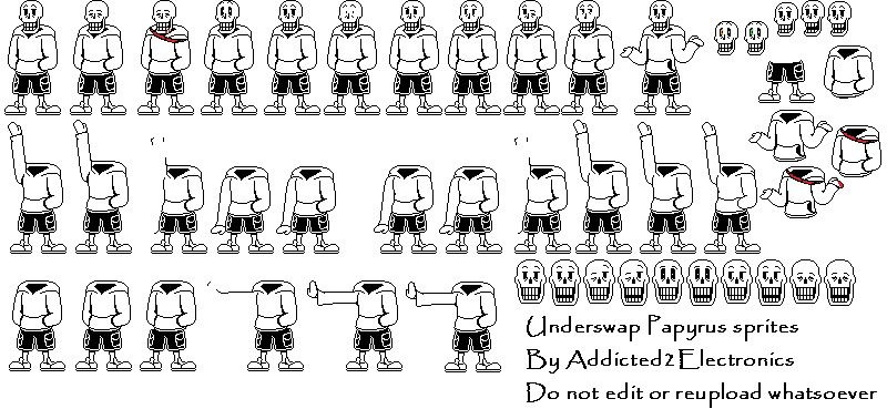 sans undertale sprite sheet