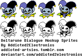 Jevil Dialogue Sprites by Addicted2Electronics