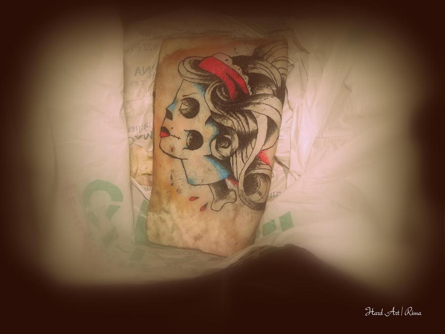 Pig skin tattoo by hard art rima on deviantart for Pig skin tattoo