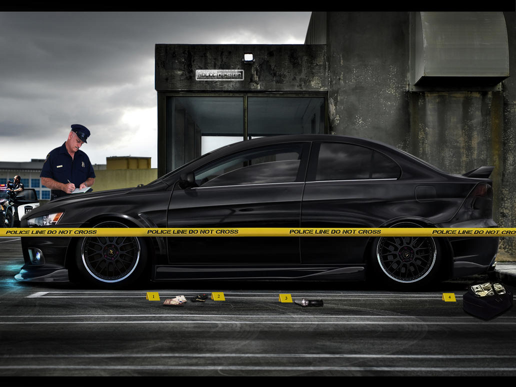 Mitsubishi Lancer Evolution MR Crime Scene by roleedesign
