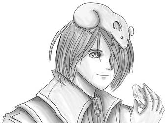 Corvo and Pet Rat by TerraWindVampire