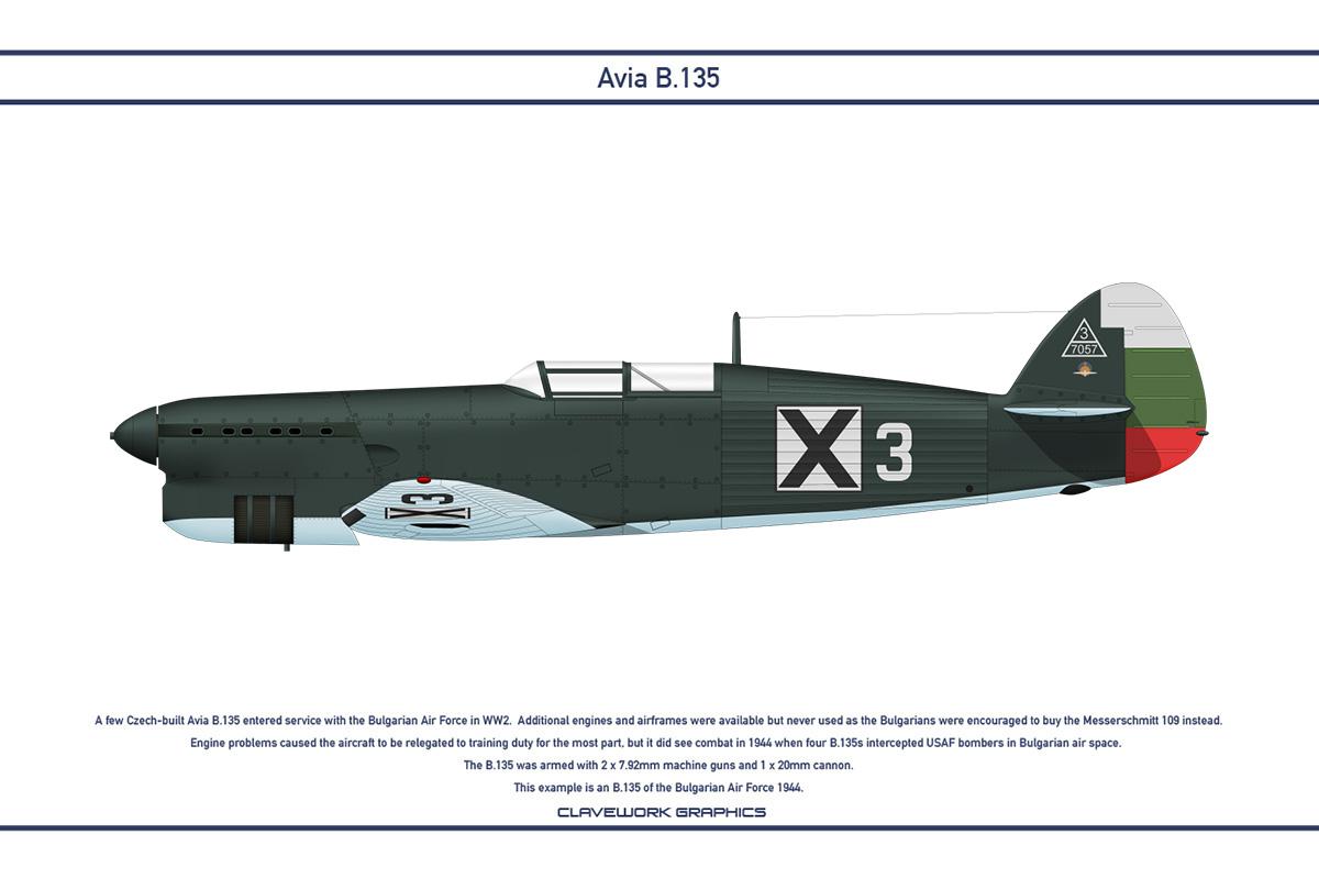 Avia B.135 Bulgaria 1