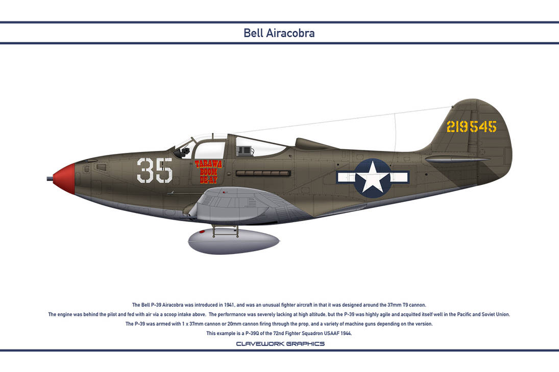 Airacobra USA 72nd Fighter Squadron by WS-Clave
