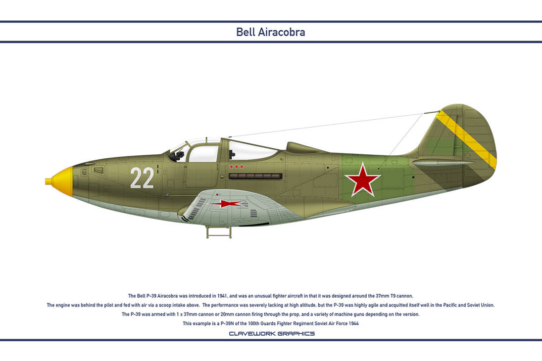 Airacobra USSR 100th Guards Fighter Regiment by WS-Clave