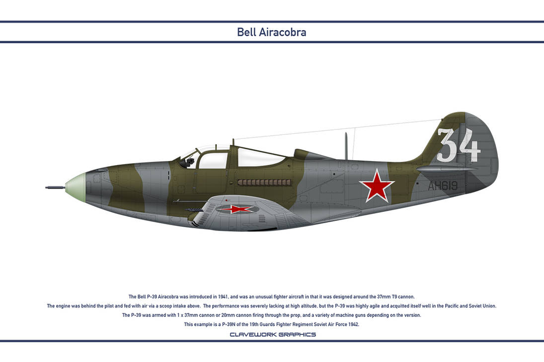 Airacobra USSR 19th Guards Fighter Regiment by WS-Clave