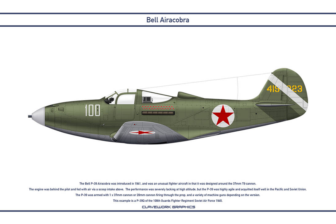 Airacobra USSR 108th Guards Fighter Regiment by WS-Clave