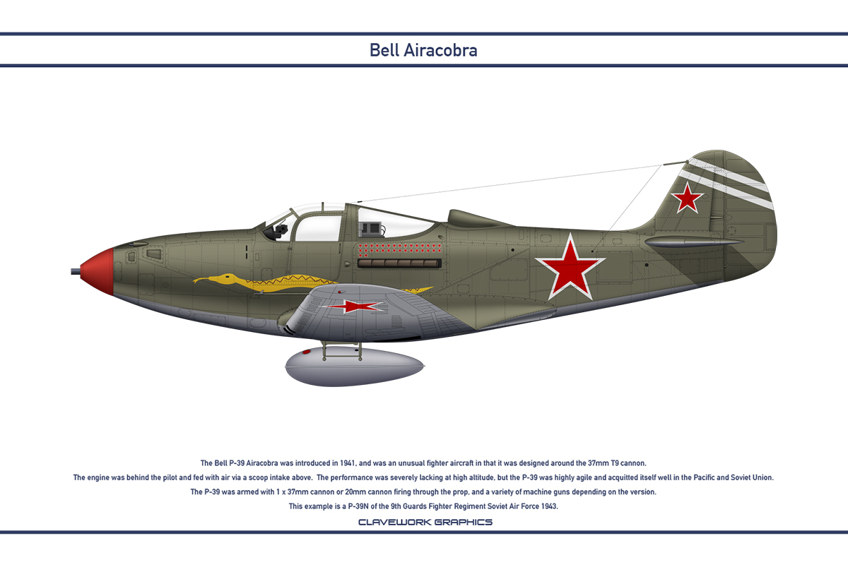 Airacobra USSR 9th Guards Fighter Regiment by WS-Clave