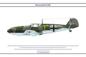 Bf 109 E-4 JG53 1 by WS-Clave