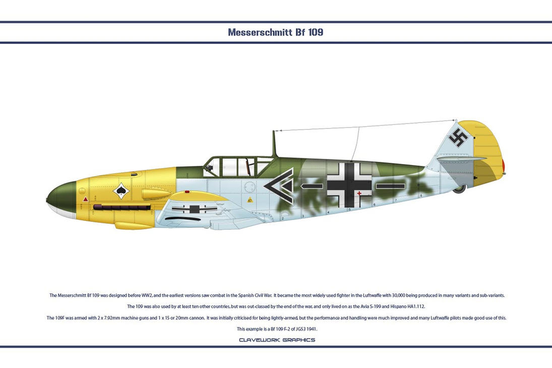Bf 109 F-2 JG53 2 by WS-Clave