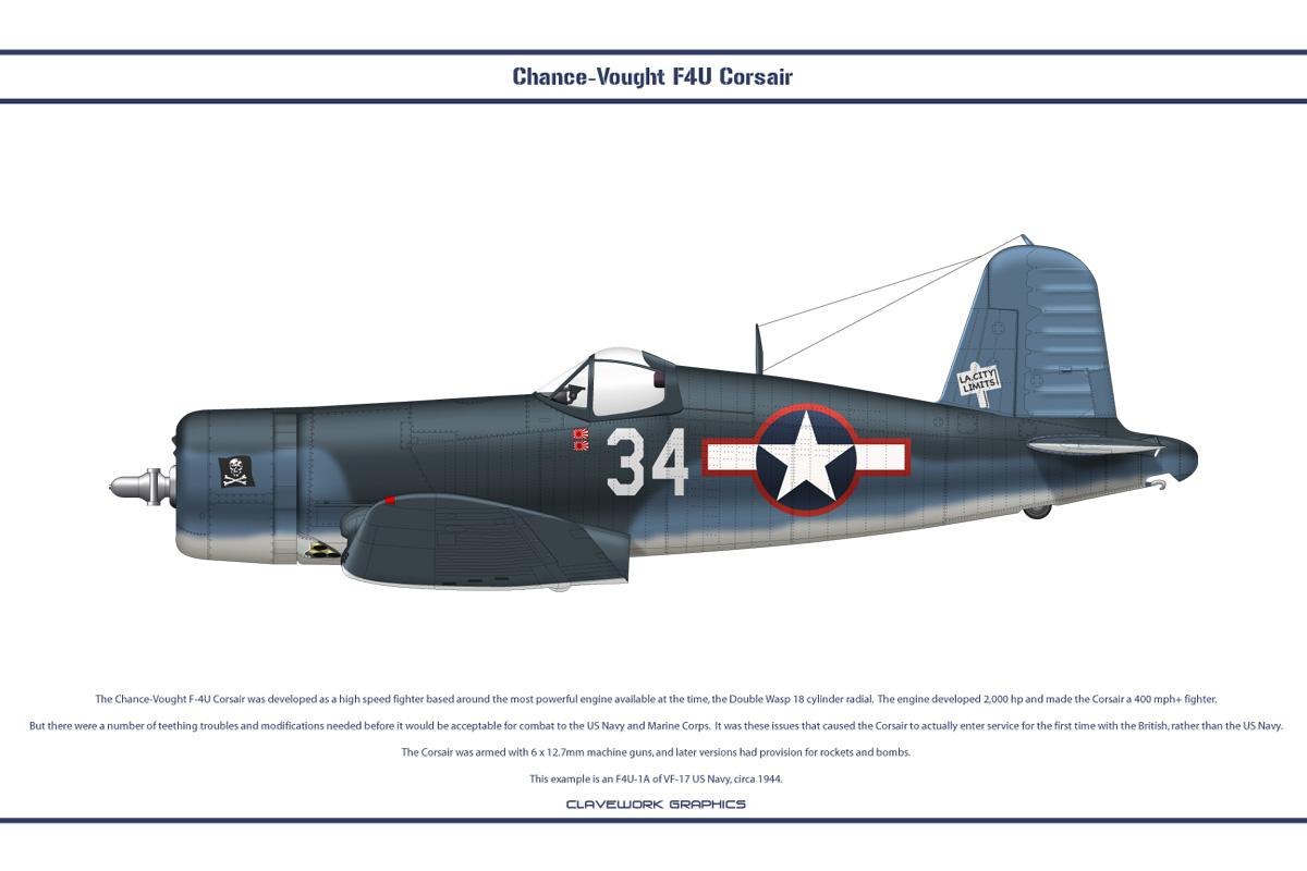 F4U-1A USA VF-17 3 by WS-Clave