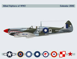 Allied Fighters Calendar 2010 by Claveworks