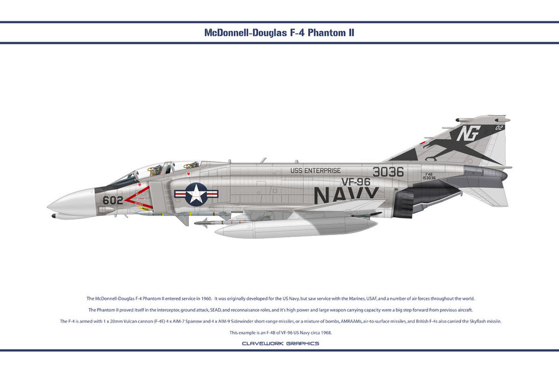 F-4B USA VF-96 1 by WS-Clave