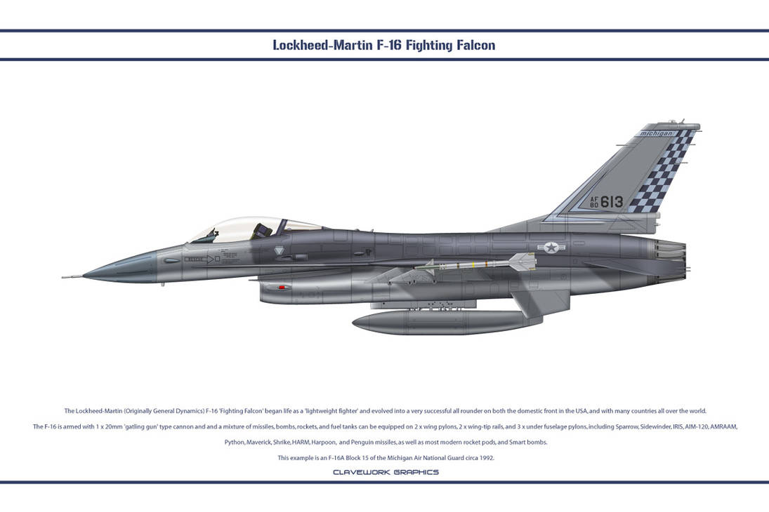 F-16 Michigan ANG 1 by WS-Clave on DeviantArt