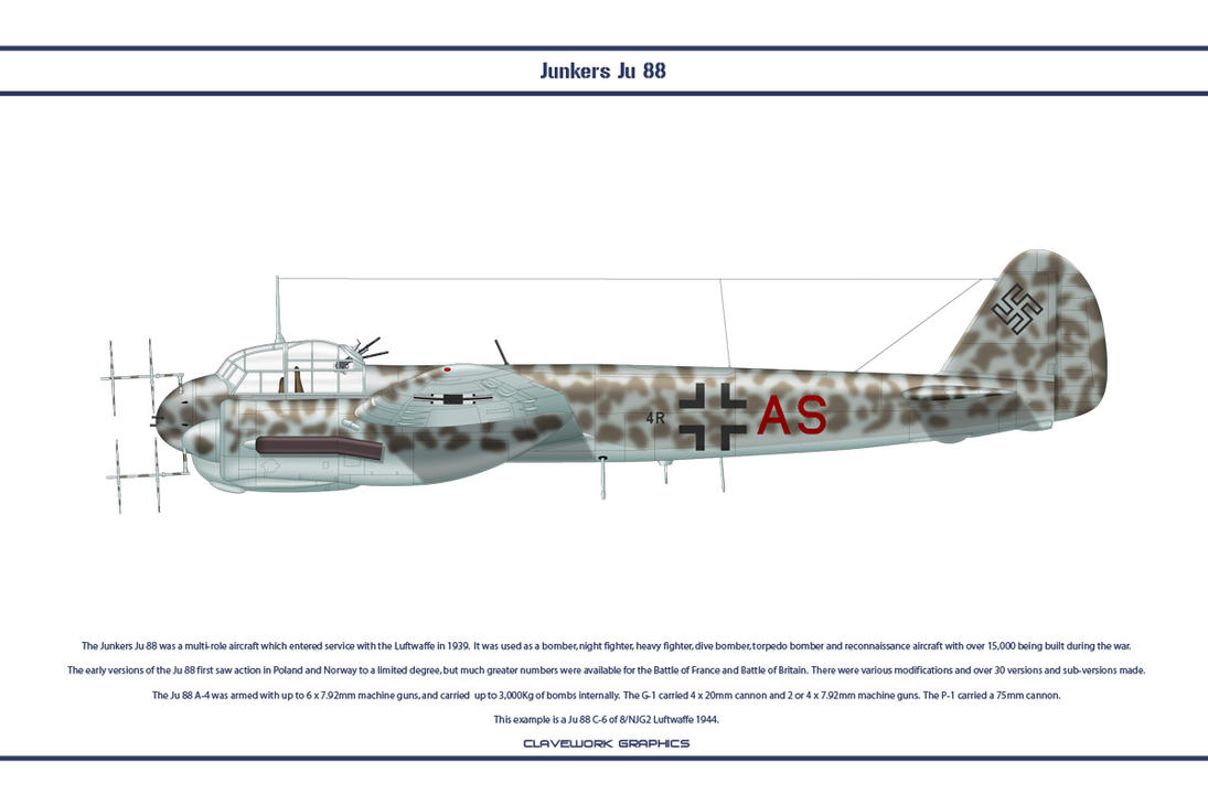 Ju 88 C-6 NJG2 1 by WS-Clave