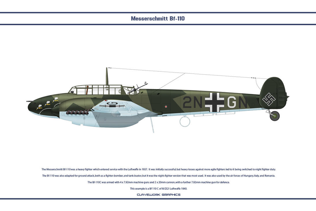 Bf 110 D ZG1 1 by WS-Clave on DeviantArt