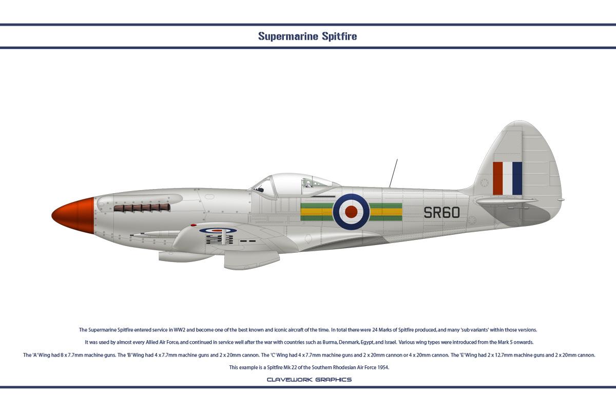 Spitfire Mk 22 Rhodesia 1 by WS-Clave on DeviantArt