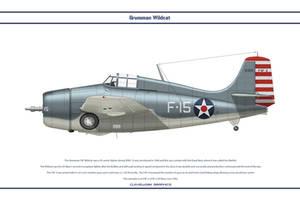 Grumman F4F VF-3 1 by WS-Clave