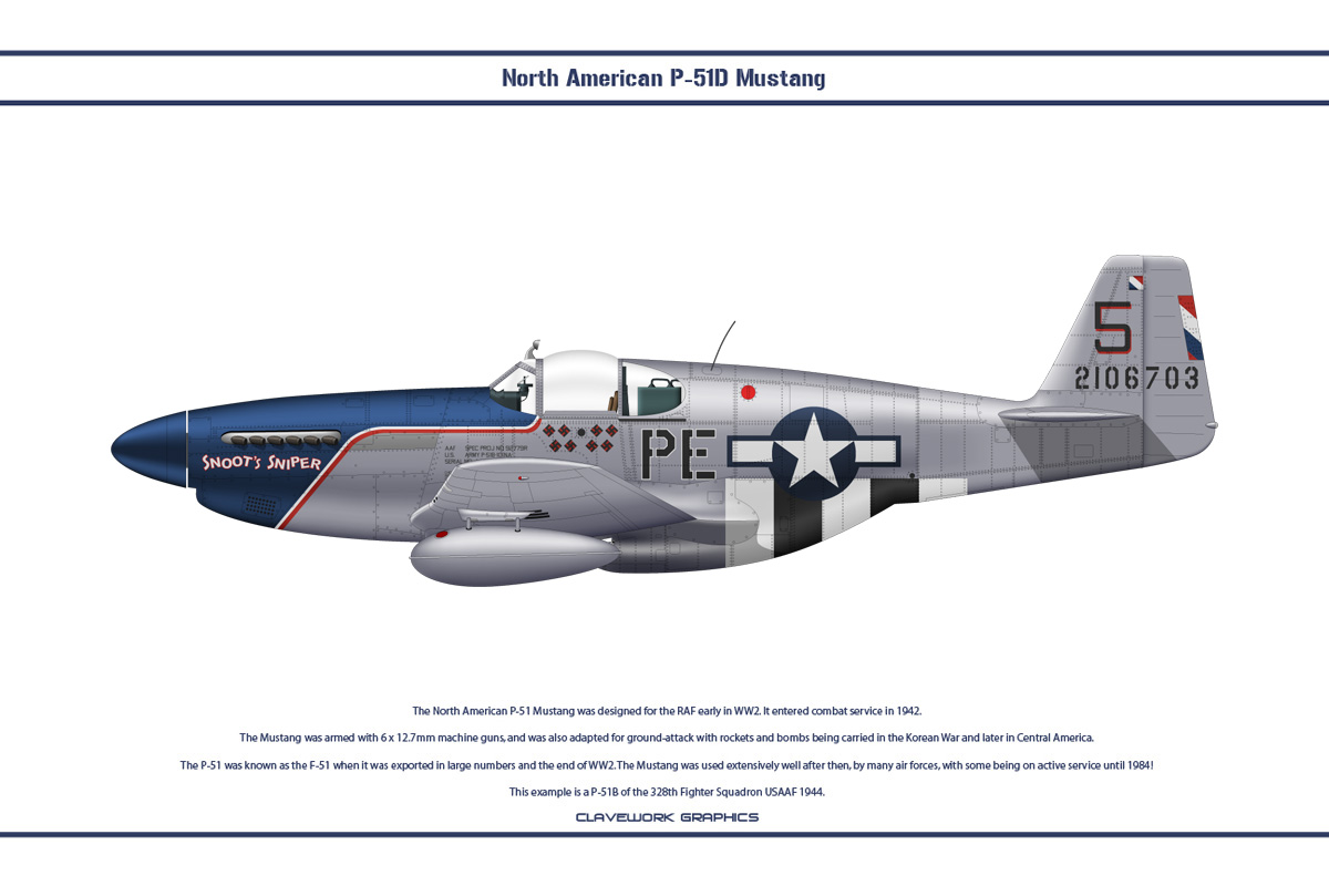 Mustang USAAF 328th FS 1 by WS-Clave