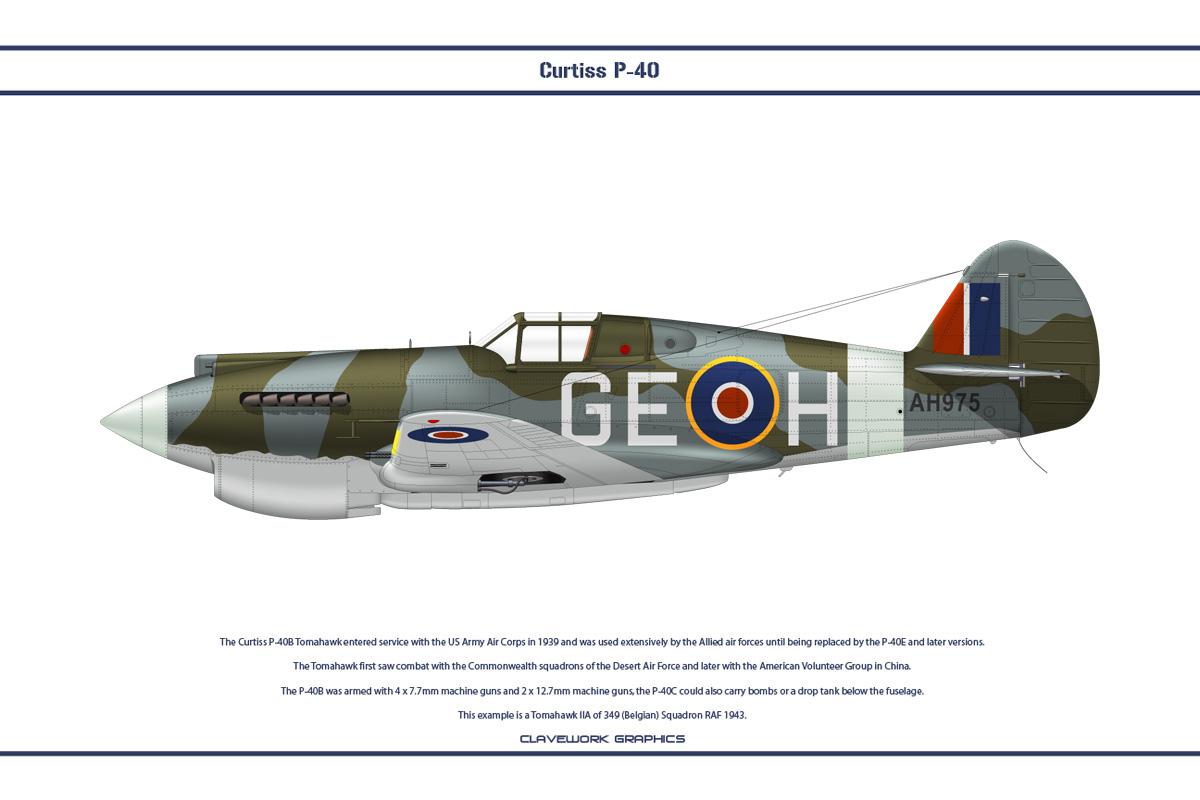P-40B 349 Sqn RAF 1 by WS-Clave