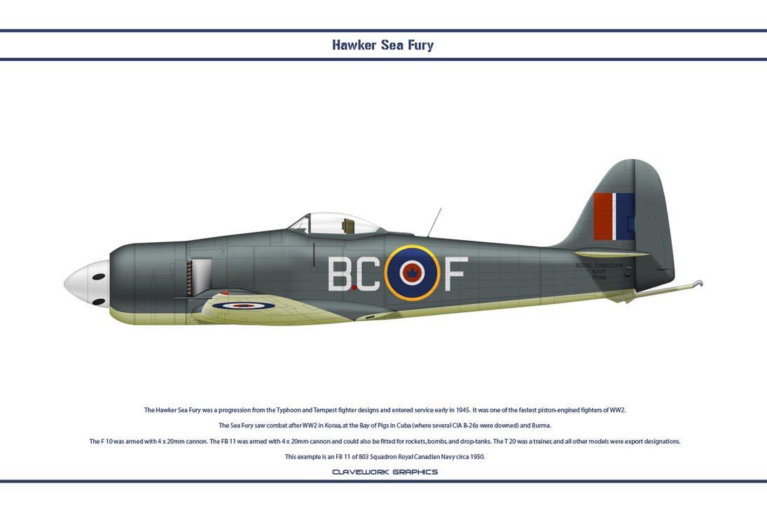 Sea Fury Canada 1 by WS-Clave
