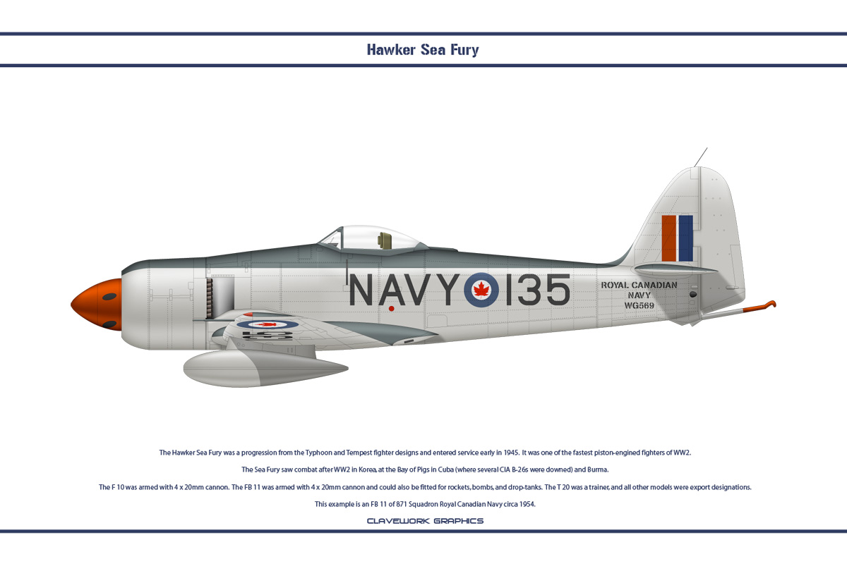 Sea Fury Canada 3 by WS-Clave
