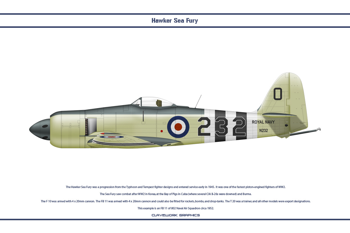 Sea Fury GB 802 NAS 1 by WS-Clave