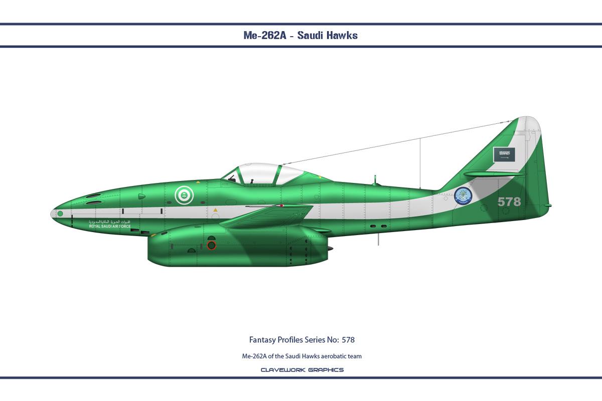 Fantasy 578 Me-262A Saudi Hawks by WS-Clave