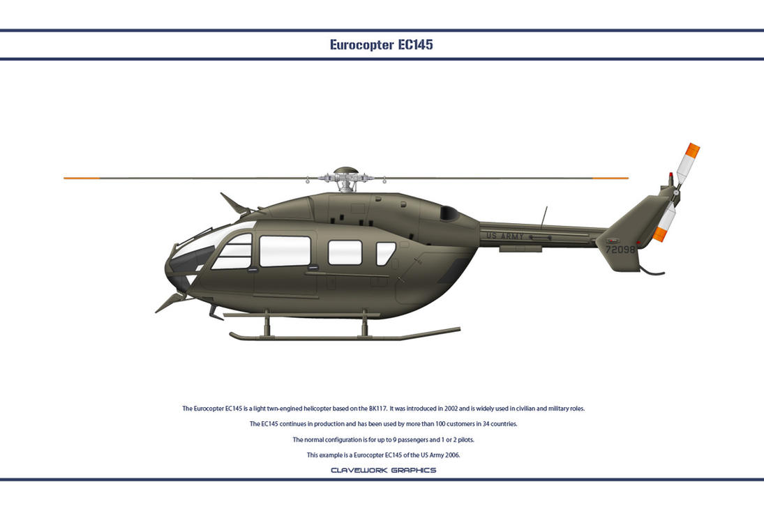 EC145 USA Army by WS-Clave