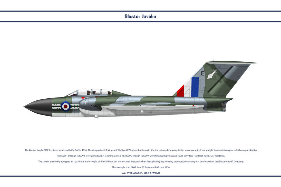 Javelin FAW1 87 Sqn by WS-Clave on DeviantArt