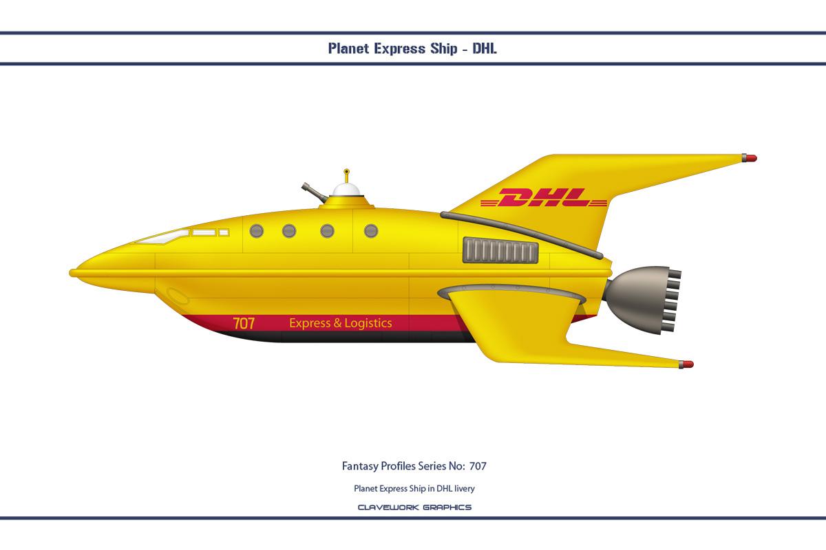 Fantasy 707 Planet Express Ship DHL