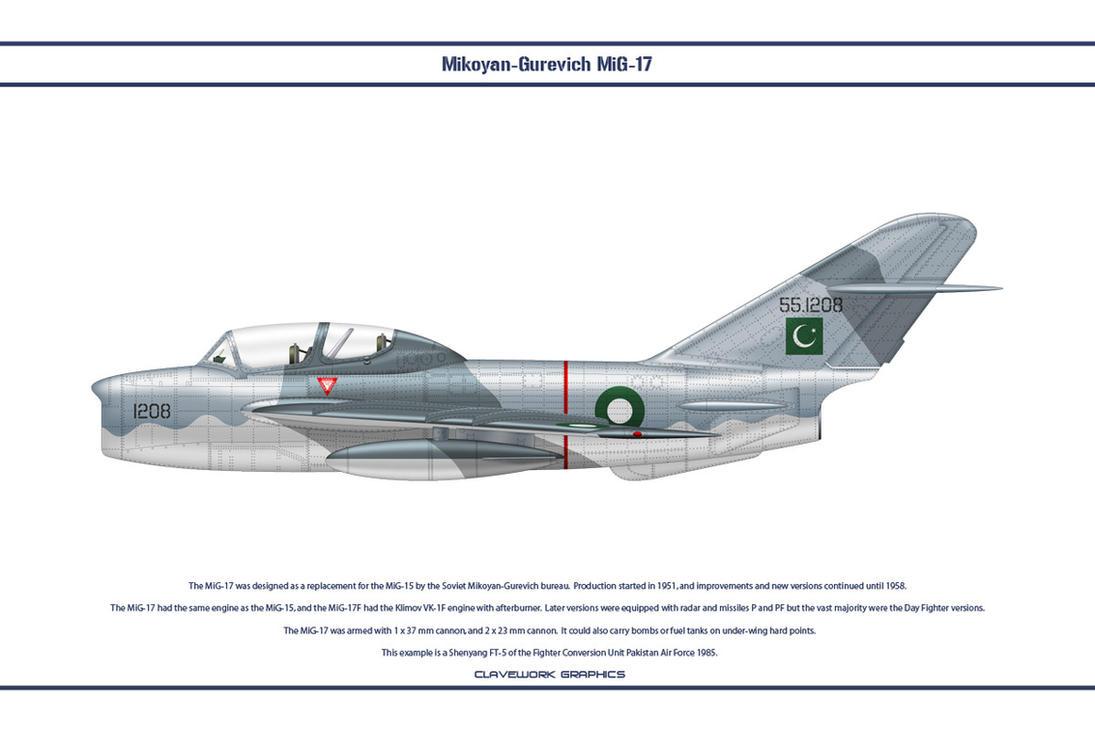 MiG-17 Pakistan 1 by WS-Clave
