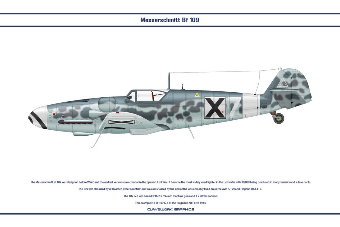 Bf 109 G-6 Bulgaria 1 by WS-Clave