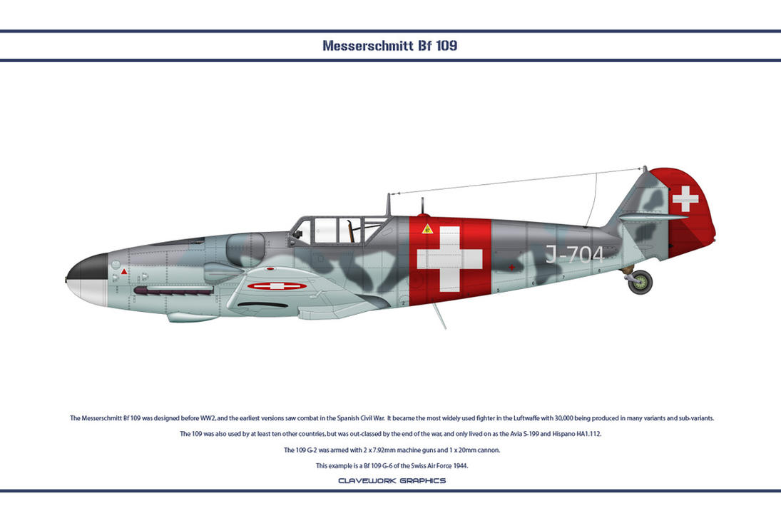 Bf 109 G-6 Switzerland 1 by WS-Clave
