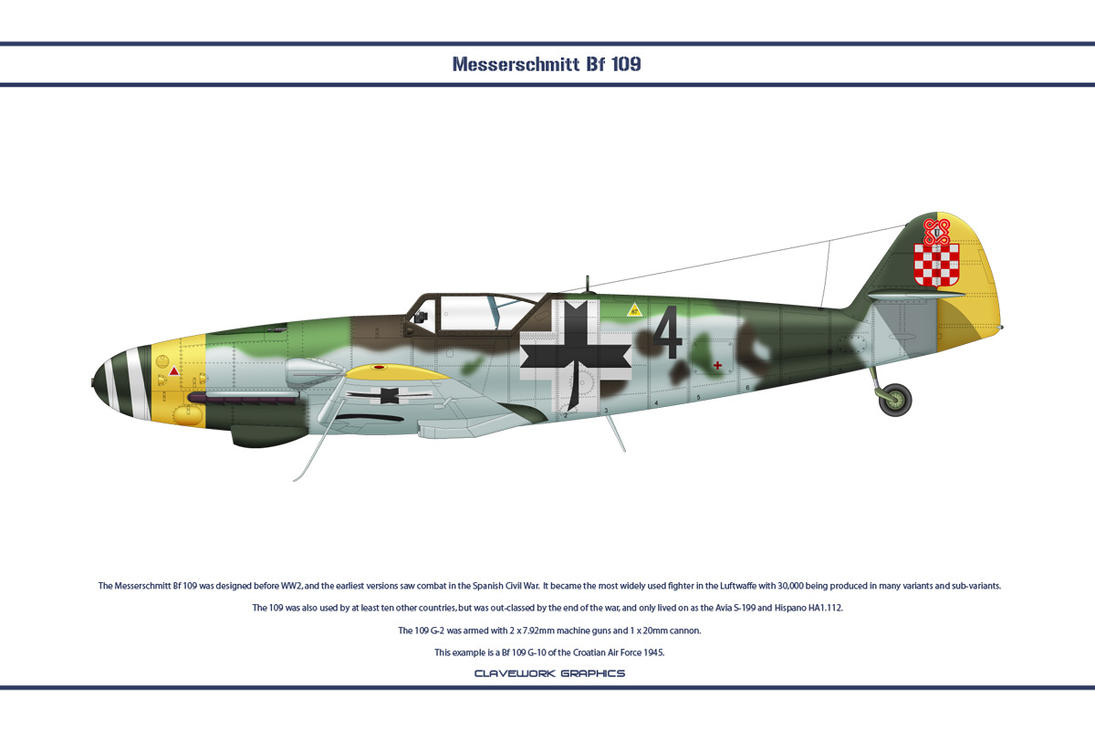 Bf 109 G-10 Croatia 1 by WS-Clave