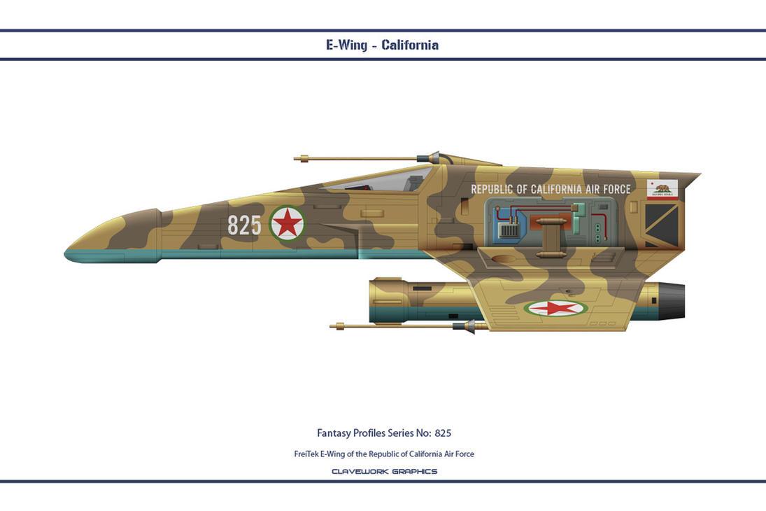 Fantasy 825 E-Wing California by WS-Clave