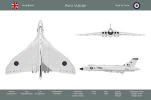Vulcan 27 Sqn 3-View