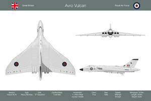 Vulcan 27 Sqn 3-View by WS-Clave