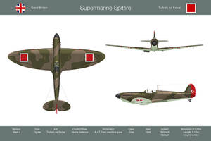 Spitfire Mk1 Turkey 3-View by WS-Clave