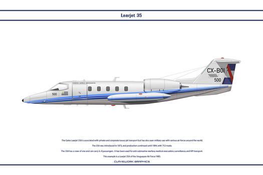 Learjet 35A Uruguay 1