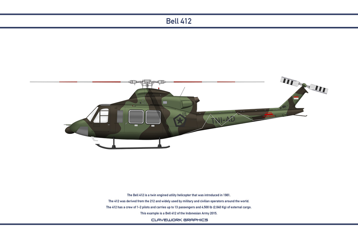 Bell 412 Indonesia 1 by WS-Clave